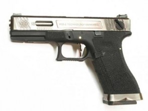 WE Glock 18 Force Silver